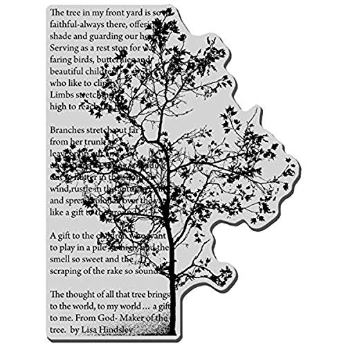 Stampendous Cling Rubber Stamp 4-inch x 6-inch Sheet-Tree Poem from Stampendous