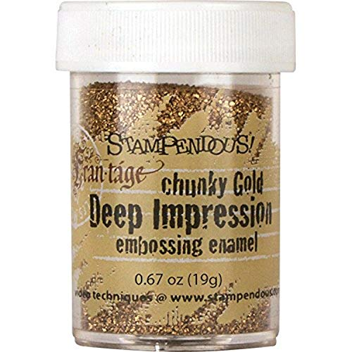 Stampendous Enamel Deep Impression Embossing Enamel 0.63 oz-Chunky Gold from Stampendous