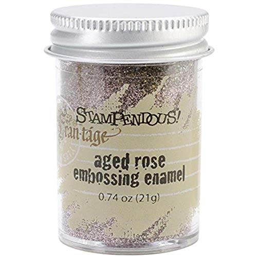 Stampendous Enamel Aged Embossing 0.60 oz-Rose from Stampendous