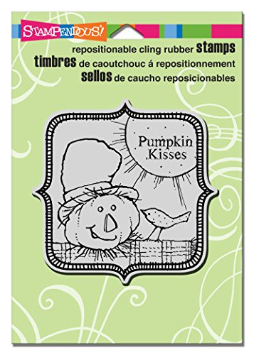 Stampendous Rubber Cling Stamp 4.75-inch x 4.5-inch, Scarecrow Kisses from Stampendous