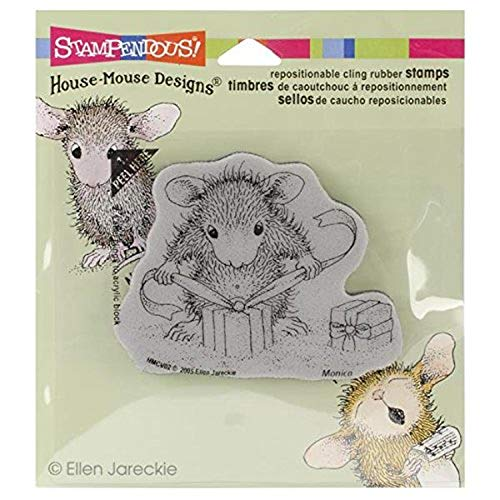 Stampendous Rubber House Mouse Cling Stamp 3.5-inch x 4-inch, Gifts to Tie from Stampendous