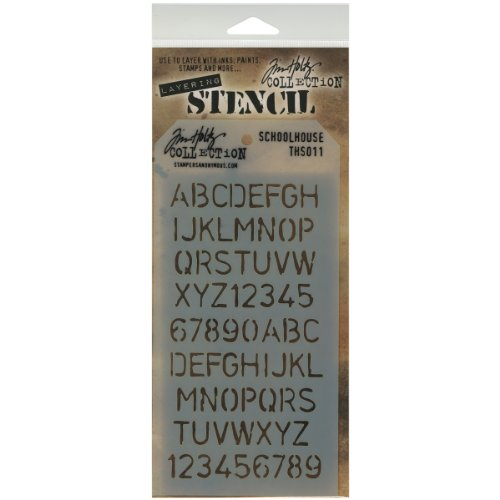 Stampers Anonymous Plastic Tim Holtz Layered Stencil 4.125-inch x 8.5-inch, Schoolhouse from Stampers Anonymous