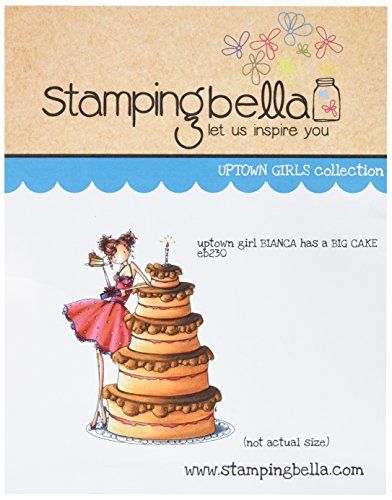 Stamping Bella Cling Rubber Stamp 6.5-inch x 4.5-inch, Uptown Girl Bianca Loves Her Big Cake from Stamping Bella