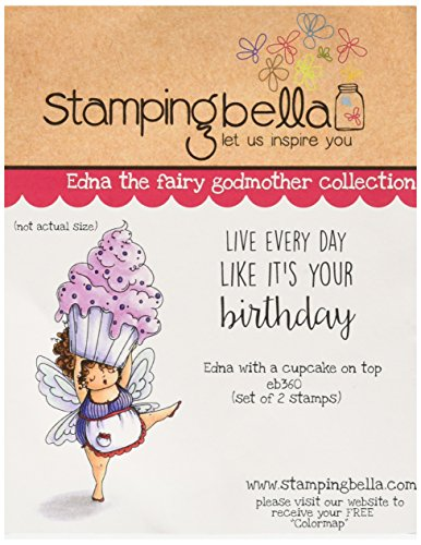 Stamping Bella Cling Stamp 6.5-Inch x 4.5-Inch-Edna with A Cupcake On Top from Stamping Bella