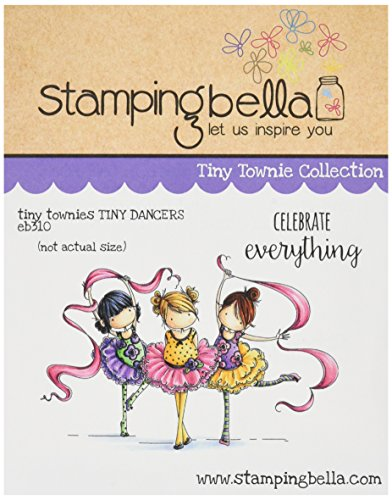 Stamping Bella Rubber Cling Stamp 6.5-inch x 4.5-inch, Tiny townie Dancers Lia, Zia and Pia from Stamping Bella