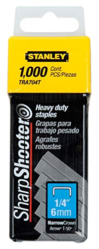 Stanley TRA704T 1/4-Inch Heavy Duty Staples, Pack of 1000 from Stanley