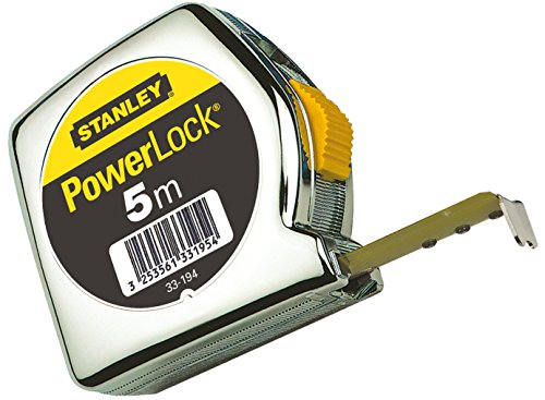"Stanley 1-33-194""Powerlock"" Tape Measure with End Hook of Metal, Silver, 5 m/19 mm from Stanley"