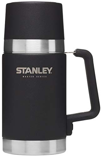 Stanley Master Stainless Steel Vacuum Insulated Food Jar, Foundry Black, 10.2 x 15.7 x 23.4 cm from STANLEY