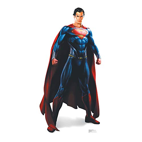 Star Cutouts Superman Man of Steel Lifesize Cardboard Cut Out, Multi-Colour from STAR CUTOUTS