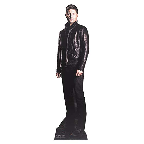 TAR CUTOUTS Dean Winchester (Jensen Ackles) Hunter Supernatural Life Size Cardboard Cut Out with Mini Table Top, Multi colour from STAR CUTOUTS