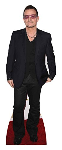 STAR CUTOUTS CS647 Life Size Cardboard Cut Out Bono Lead Singer U2 167cm Tall, Multi Colour, 167 x 60 x 167 cm from STAR CUTOUTS