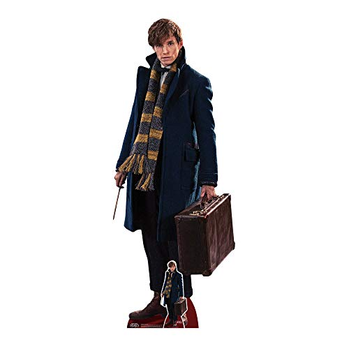 STAR CUTOUTS Newt Scamander Fantastic Beasts Life Size Cardboard Cut, Multi-Colour, 177 x 5 x 177 cm from STAR CUTOUTS