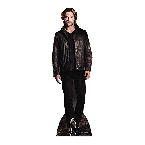 STAR CUTOUTS Sam Winchester (Jared Padalecki) Hunter Supernatural Life Size Cardboard Cut Out with Mini Table Top, Multi colour from STAR CUTOUTS