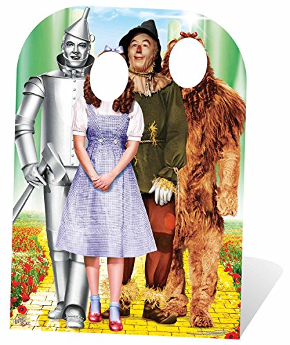STAR CUTOUTS Wizard of OZ Stand-in Emerald City Life Size Cardboard Cut Out with Mini Table top, Multi-Colour, 130 x 95 x 130 cm from STAR CUTOUTS