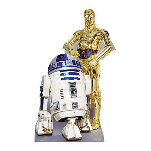 STAR CUTOUTS SC480 Official Star Wars The Droids R2-D2, C3P-O Lifesize Cardboard Cutout from STAR CUTOUTS