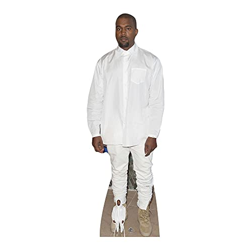 Star Cutouts Ltd STAR CUTOUTS Life Size Cardboard Cut Out Kanye West, Multi-Colour from Star Cutouts Ltd