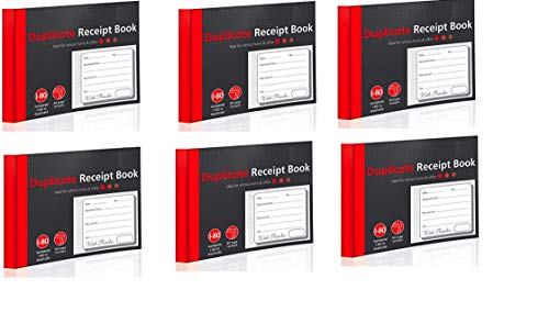 Duplicate Receipt Book Cash Book A6 Numbered 1-80 x 6 Books from Star Online