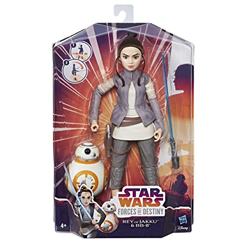 Star Wars C1628 Forces of Destiny Toy Rey of Jakku and BB-8-2 Figure Adventure Set - Doll from Star Wars