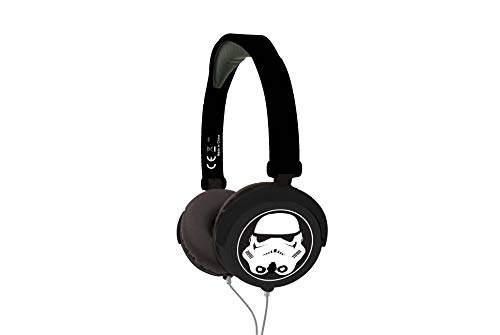 Lexibook Star Wars Rey Poe Finn BB-8 Stereo Headphone, Kids safe foldable and adjustable, Black/White, HP015SW from LEXIBOOK