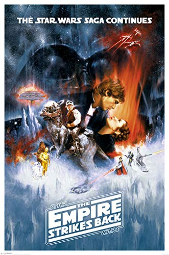 Star Wars Pyramid International One Sheet The Empire Strikes Back Maxi Poster, Multi-Colour, 61 x 91.5 x 1.3 cm from Star Wars