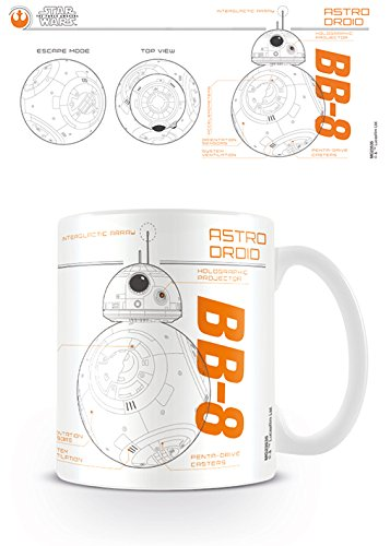 Star Wars Pyramid International Episode VII (BB8 Sketch) Official Boxed Ceramic Coffee/Tea Mug, Multi-Colour, 11 oz/315 ml from Star Wars
