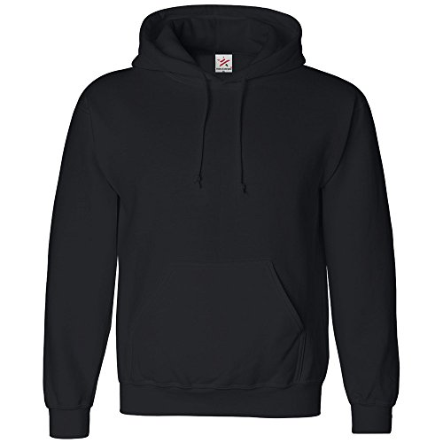 SMALL Black classic plain pullover hoodie unsex and these are ideal for mens and ladies hooded sweatshirt from Star and Stripes