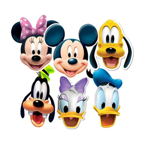 Star Cutouts SMP37 Mickey/Minnie/Donald/Pluto/Goofy/Daisy Friends Party Mask, One Size from Star Cutouts Ltd