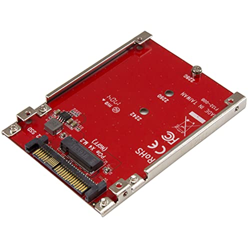 StarTech.com M.2 to U.2 Adapter - M.2 Drive to U.2 SFF-8639 Adapter - Works with M.2 PCIe NVMe Drives from STARTECH.COM