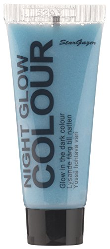 Blue glow in the dark gel. Skin colour that glows in the dark, great for Halloween or evenings out. from Stargazer