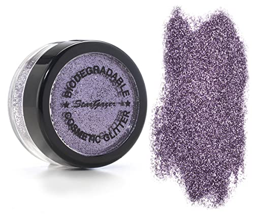 Stargazer Biodegradable Glitter Shaker - Violet. Festival Friendly Biodegradable Cosmetic Glitter X from Stargazer