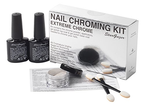 Extreme Chrome nail chroming kit. Get that almost mirror finish nail colour in bright silver. from Stargazer