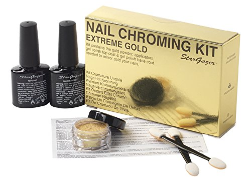 Extreme Gold nail chroming kit. Get that almost mirror finish nail colour in bright gold. from Stargazer