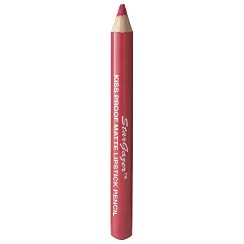 Kiss proof matte lipstick pencil shade 3. Soft long stay lipstick pencil with integrated lid sharpener from Stargazer