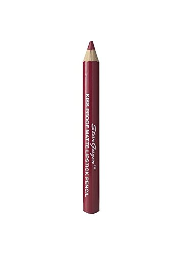 Kiss proof matte lipstick pencil shade 8. Soft long stay lipstick pencil with integrated lid sharpener from Stargazer