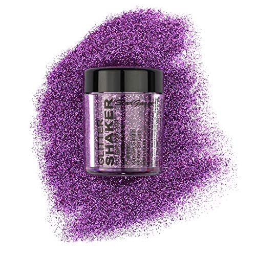 Stargazer Plush Glitter Shaker, Mauve. Cosmetic glitter powder for use on the eyes, lips, face, body, hair and nails. from Stargazer