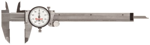 "Starrett 120X-6 Dial Calliper, Stainless Steel, White Face, 0-6"" Range, -0.001"" Accuracy, 0.001"" Resolution from Starrett"