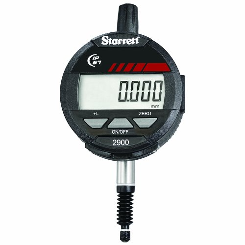 Starrett 2900-1M LCD Electronic Indicator, 8mm Stem Dia, 0-12mm Range, 0.001mm Graduation from Starrett