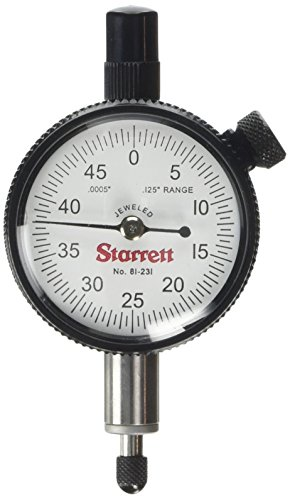 "Starrett 81-231J Dial Indicator, Range: .125"", Dial Reading: 0-50 from Starrett"