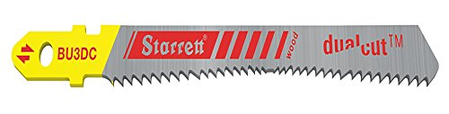 Starrett BU3DC-2 Wood Cutting HSS Bi-Metal Unique Dual Cut Jig Saw Blades (Pack of 2) from Starrett