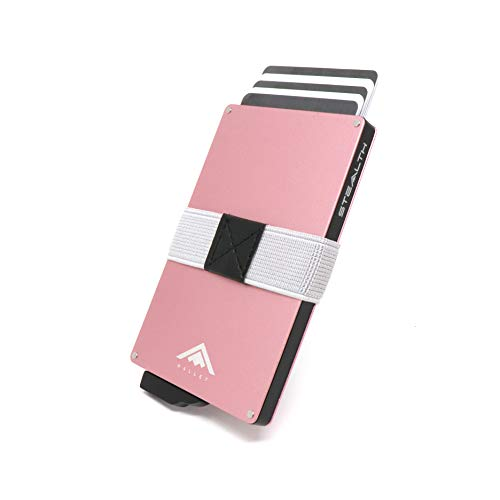 STEALTH Wallet - Minimalist Aluminium RFID Blocking Pop-Up Credit Card and Cash Holder with Gift Box - Slim and Lightweight Ejector Wallet with Contactless Card Protection (Rose Gold) from Stealth Wallet