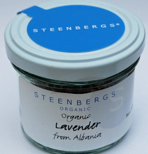 Organic Lavender Dried Flower Standard Jar 12g from Steenbergs