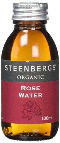 Steenbergs Organic Rose Water 100ml Glass Bottle from Steenbergs