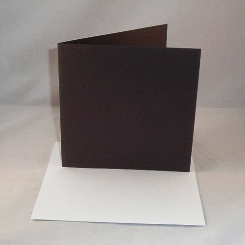 "10 x 8""x8"" Black Card Blanks With White Envelopes from Stella Crafts"