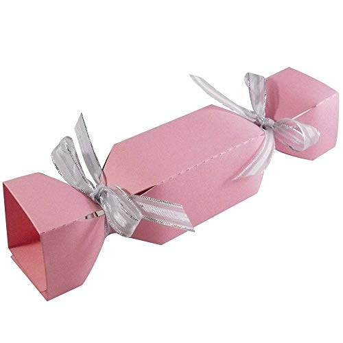 10 x Light Pink Christmas Cracker Boxes Christmas Favour Boxes from Stella Crafts