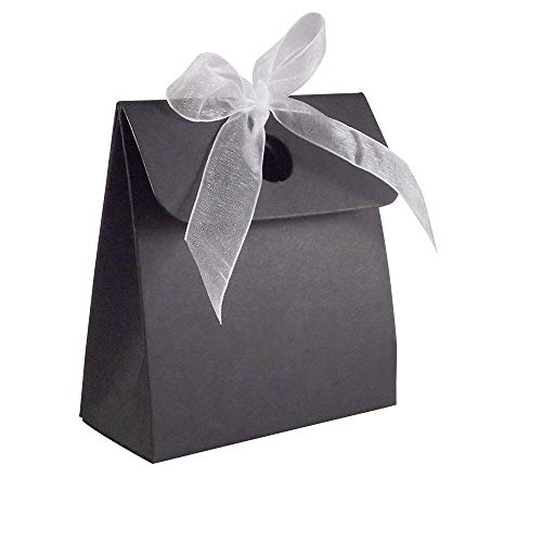 20 x Black Box Bag Wedding Favour Boxes from Stella Crafts