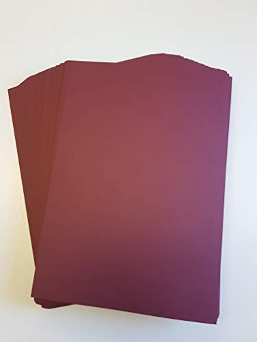A4 Maroon Card Stock x 10 Sheets, 240gsm (297mm x 210mm) - Stella Crafts from Stella Crafts