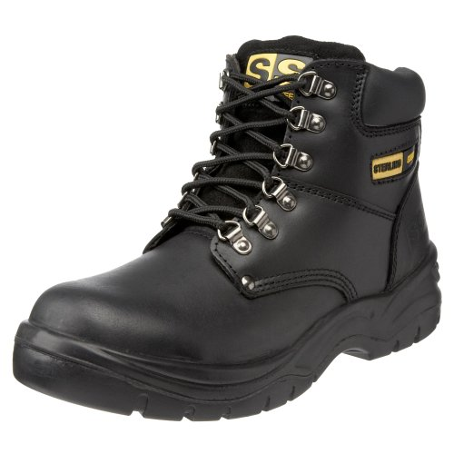 Sterling Steel Unisex-Adult SS806SM Safety Boots Black 7 UK Wide from Sterling Safetywear