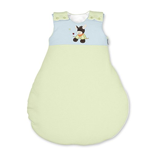 Sterntaler Sleeping Bag for Babies, With Zip and Buttons, Size: 62/68, Emmi, Green/Blue from Sterntaler