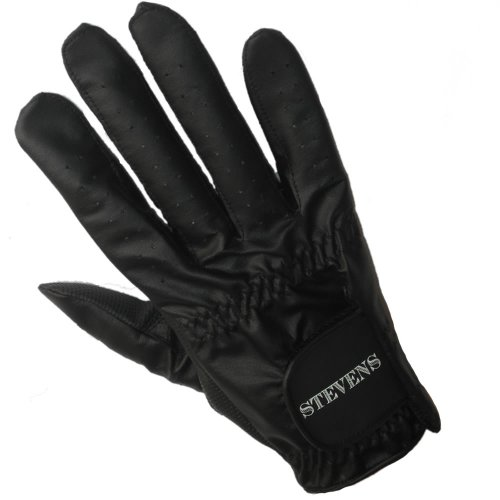 Stevens Mens Left Hand Black Bowling Glove Medium