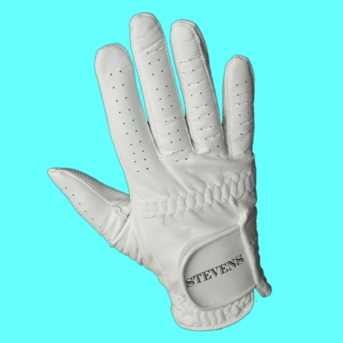 Stevens Mens Left Hand White Bowling Glove Medium